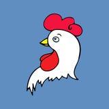 导航雄鸡的例证, 2017年的标志 免版税库存照片