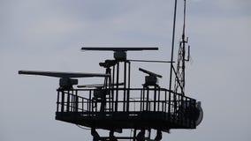 导航雷达的旋转天线 影视素材