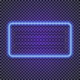 导航霓虹水平的在透明背景的框架深蓝颜色样式 库存照片