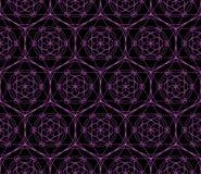 导航霓虹神圣的几何标志的几何无缝的样式 免版税库存照片