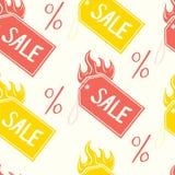 导航颜色销售标记和百分比的样式 免版税库存照片