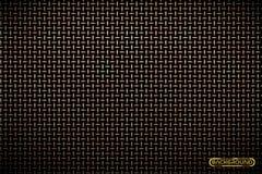 导航黄铜金属栅格techno背景的样式 铁格栅工业纹理 网页填充模式 技术墙纸 向量例证