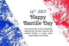 导航巴士底日的例证,在时髦难看的东西样式的法国旗子 设计海报的,横幅, flayer,问候, i模板 库存照片