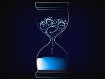 导航滴漏熔化的时钟,时间现在是概念 库存例证
