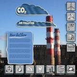 导航介绍的例证和infographic在被弄脏的背景力量 库存图片