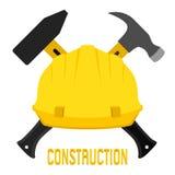 导航建筑、工作者s盔甲和锤子的例证 免版税图库摄影