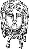 古老面具 免版税库存照片
