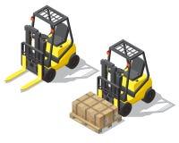 导航3d存贮的等量铲车,仓库 皇族释放例证