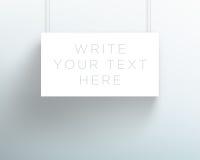 导航3d空白的白色标题横幅垂悬的设计 库存照片