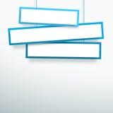 导航3d空白的蓝色3线虚弱的垂悬的横幅 免版税图库摄影