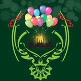 导航Eid Al Adha和海报或者贺卡设计创造性和农村阿拉伯书法文本  庆祝  皇族释放例证