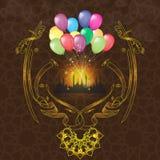 导航Eid Al Adha和海报或者贺卡设计创造性和农村阿拉伯书法文本  庆祝  向量例证