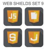 导航Java语言网发展盾标志的汇集:j 库存照片