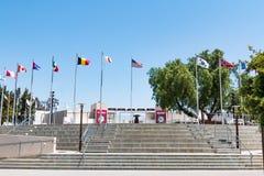 导致奥林匹克培训中心庭院的步  库存图片