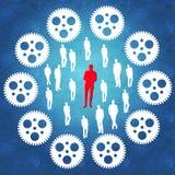 导致成功的业务管理进程 免版税图库摄影