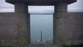 导致海的步在都伯林 库存照片