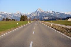 导致路的阿尔卑斯 库存照片