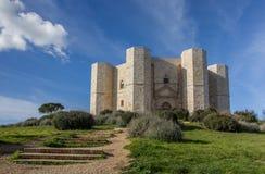 导致Castel台尔Monte的步 库存照片