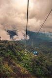 导致Genting的空中览绳在马来西亚 免版税库存照片