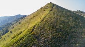 导致Monte Boletto,阿尔卑斯的道路的鸟瞰图,在科莫湖附近 科莫,布鲁纳泰,伦巴第,意大利 库存照片