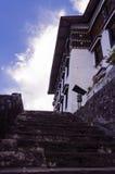 导致Tawang Monastry的步 免版税库存照片