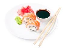 在板材的寿司 库存照片