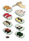 寿司例证 免版税库存照片