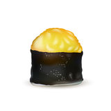 寿司卷传染媒介象 食物日本菜单、米和海鲜 亚洲食物 库存图片