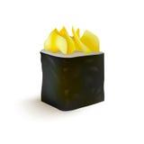 寿司卷传染媒介象 食物日本菜单、米和海鲜 亚洲食物 免版税库存图片