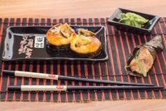 寿司卷用棍子 免版税库存图片