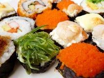 寿司卷集合关闭 库存图片
