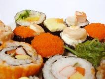 寿司卷集合 免版税图库摄影