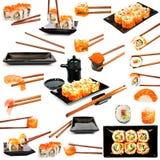 寿司和调味汁 库存照片