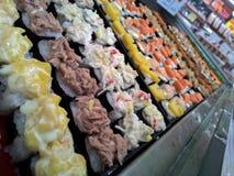 寿司在市场上 免版税库存照片