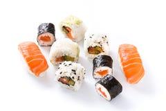 寿司在白色背景仿造 库存图片