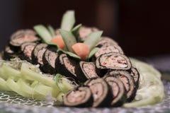 寿司堆 免版税库存照片
