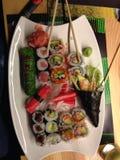 寿司墙纸 免版税库存照片