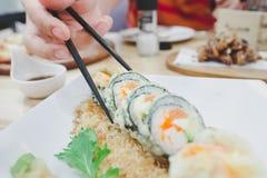 寿司天麸罗 免版税图库摄影