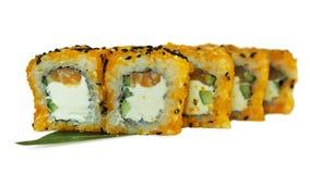 寿司宏观射击  日本餐馆,寿司,东方传统 免版税图库摄影