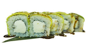 寿司宏观射击  日本餐馆,寿司,东方传统 图库摄影