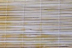 寿司席子细节背景 免版税库存照片