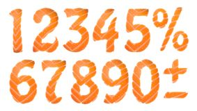 寿司数字设置,导航剪贴美术例证 免版税库存照片