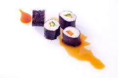 寿司日本人盘 免版税库存图片