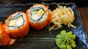 寿司日本食物菜单 免版税库存图片