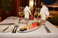 寿司晚餐 免版税库存照片