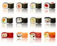 寿司片收集 库存图片