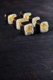 寿司用米和yaymom 库存图片