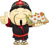 寿司的厨师 图库摄影