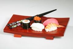寿司盛肉盘 免版税库存照片
