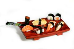 寿司盛肉盘 库存图片